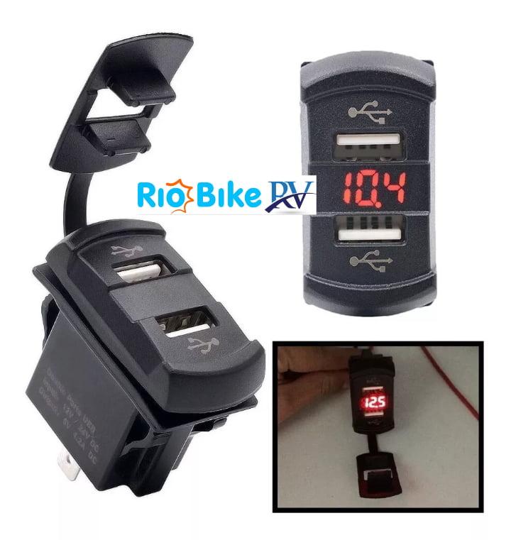 Voltímetro com Tomada USB