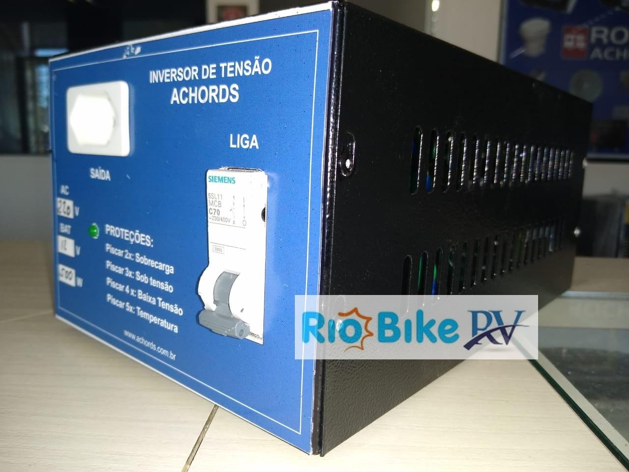 Inversor 12v - 500W para Geladeira, TV - ACHORDS