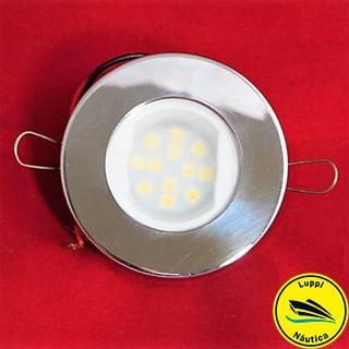 Luminária Inox 9 LED - Redonda 12/24 V - LUPPI