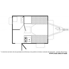 Trailer Karmann Ghia - KC-270 - Colibri (vendido)