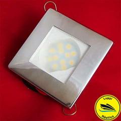 Luminária Inox LED - Quadrada - LUPPI